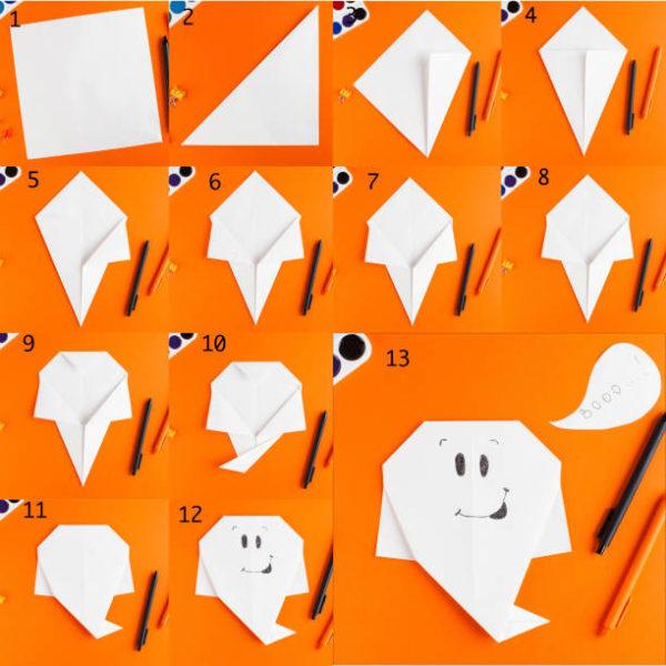 Los origami mas sencillos para hacer con ninos y celebrar el dia mundial del origami fantasma