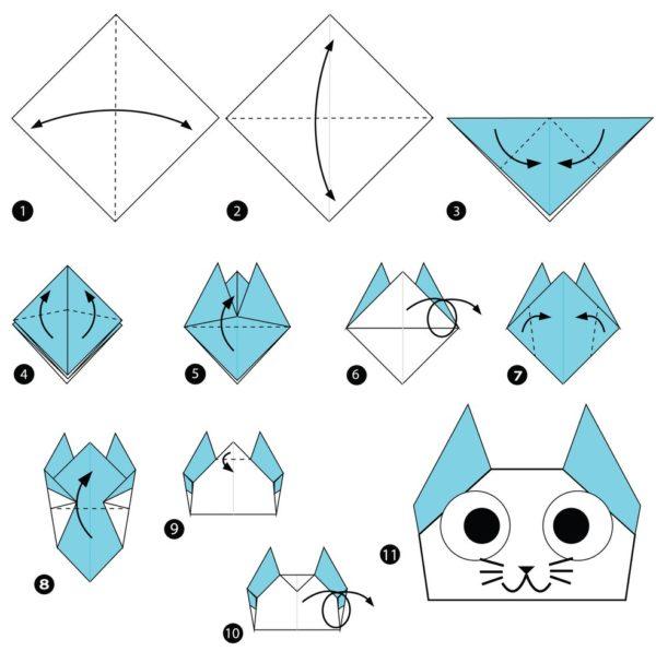 Los origami mas sencillos para hacer con ninos y celebrar el dia mundial del origami gato