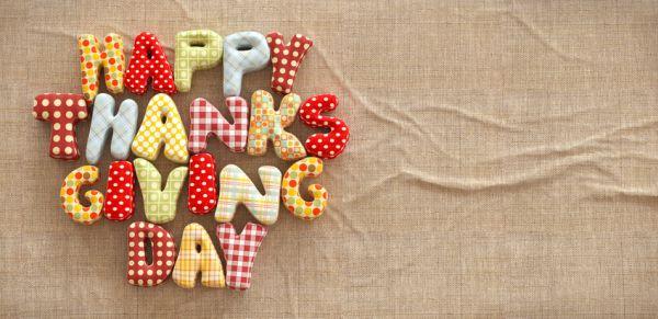 Manualidades para acción de gracias, felicitación