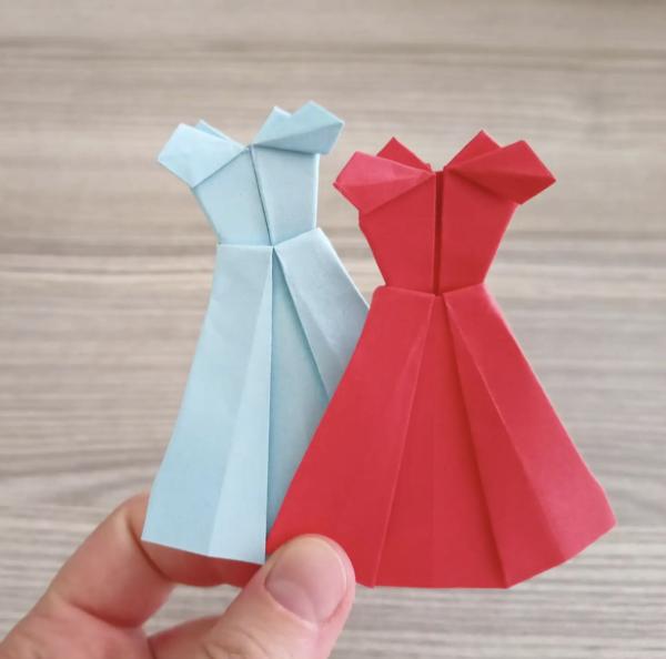 Las mejores ideas de Origami para principiantes vestidos