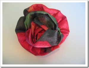 flor de tela simple