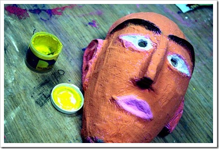 mascara en papel mache