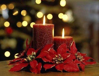 Portavelas y centros navide os manualidades - Centro de navidad con velas ...