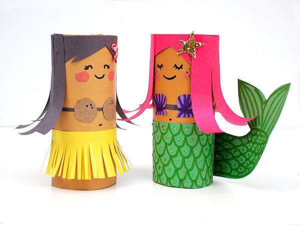 manualidades-para-el-dia-del-padre-con-materiales-reciclados-familia-rollo-de-papel