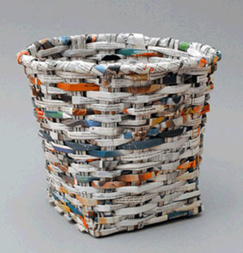 Wastebasket From Recycled Paper