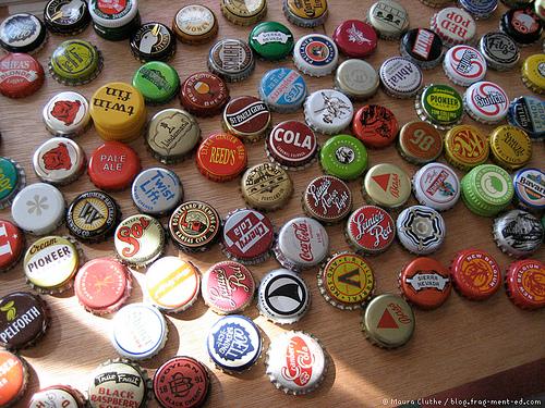 Chapas Botellas Decorativas Vintage