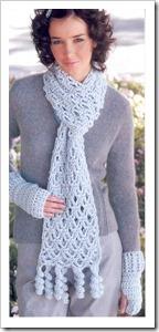 bufanda con crochet estilo ganchillo