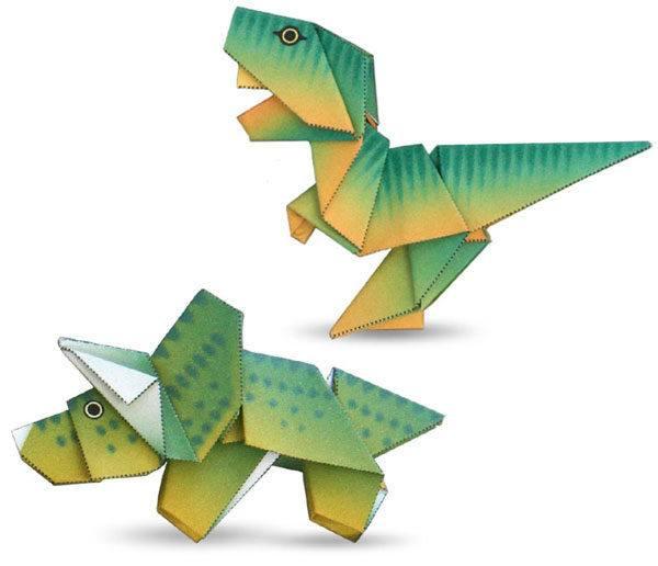 dinosaurios papel