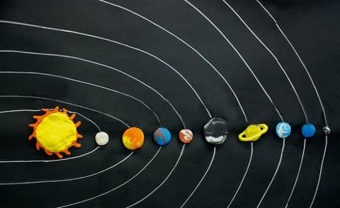 El Sistema solar en plastelina