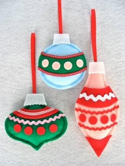 Adornos de fieltro para decorar tu casas estas navidades - Manualidades de navidad ...