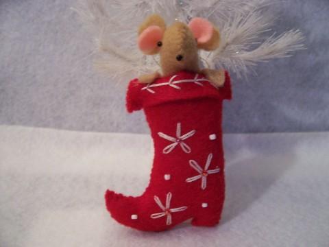 Calcetín de Navidad con fieltro