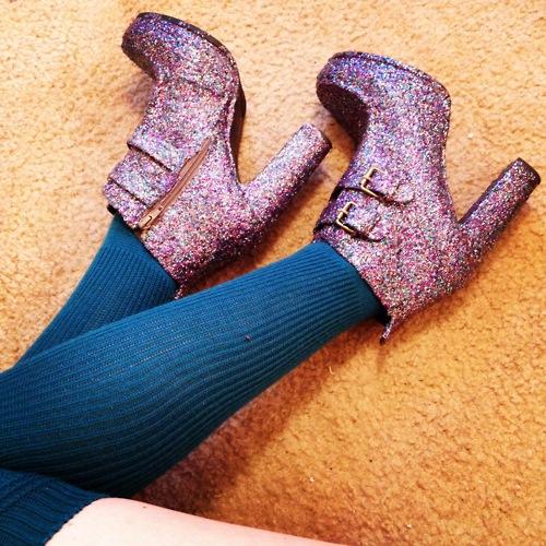 botas con purpurina