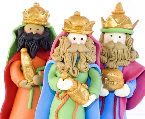 reyes magos plastilina
