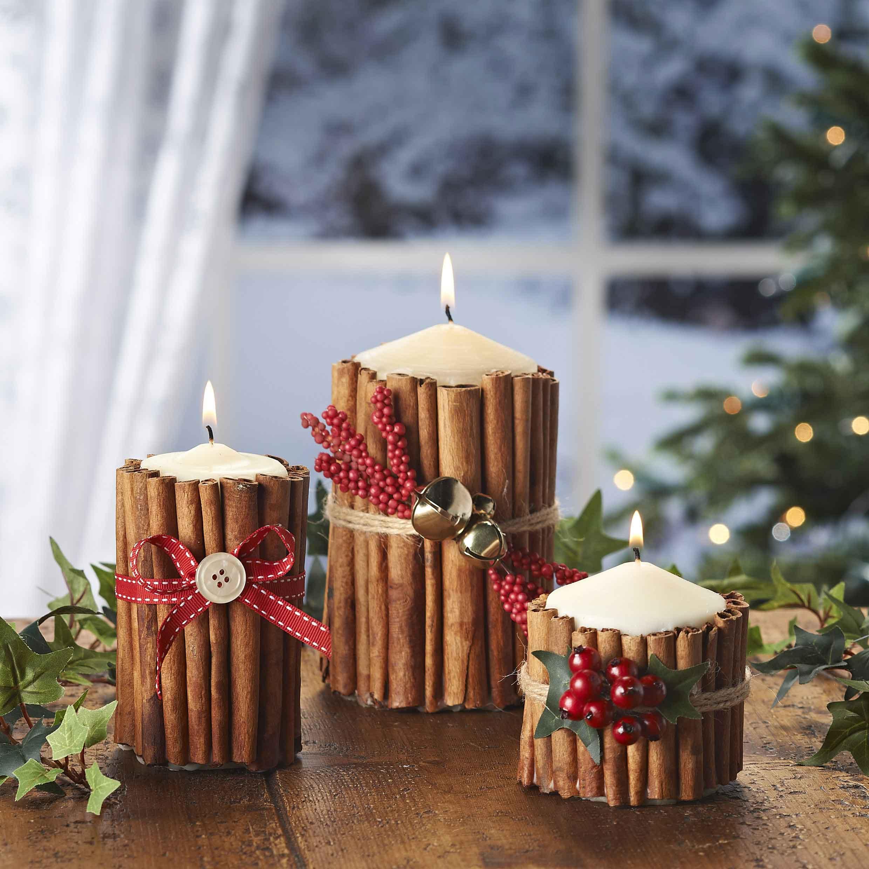 Velas decorativas para navidad 2018 manualidades for Decoracion del hogar con velas