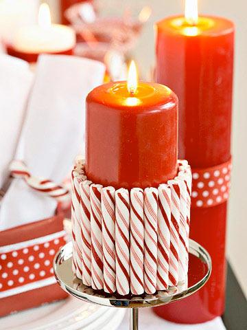 Vela decorativa con velas de cumpleaños