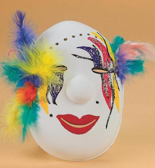 Como decorar una mascara de yeso para ni os imagui - Como adornar una pared ...