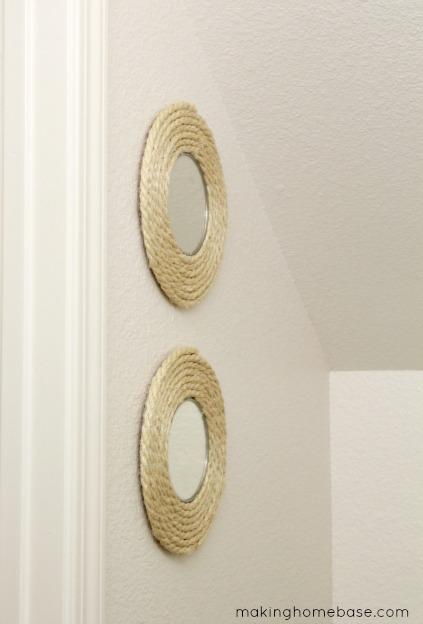 Decoraciones r sticas de pared manualidades for Como hacer cuadros con espejos