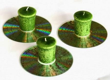 Decoraci n de navidad cds reciclados manualidades - Adornos navidenos con material reciclado para ninos ...