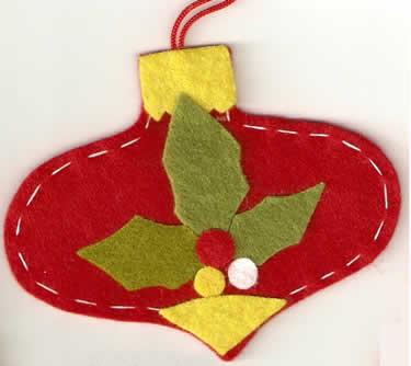 adorno navidad fieltro