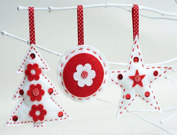 Adornos de navidad de fieltro 2015 estrellas y arboles for Adornos navidenos que se pueden hacer en casa