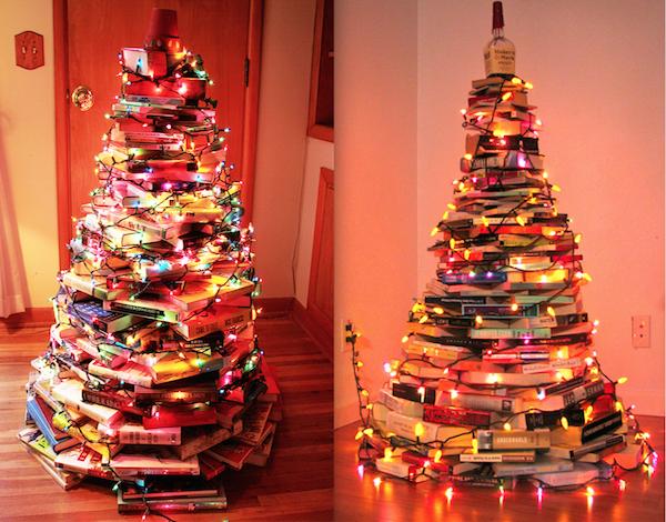Arboles reciclados de navidad 2015 libros manualidades - Manualidades de arboles de navidad ...