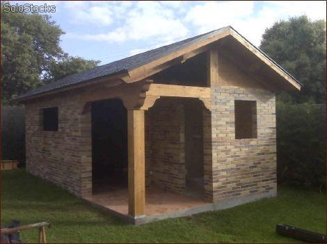 C mo construir una caba a manualidades for Casas para herramientas de jardin