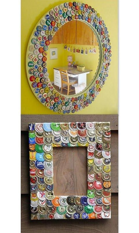 Manualidades con chapas de botellas manualidades for Ideas decoracion reciclaje