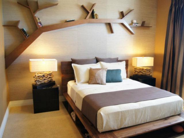 Manualidades para decorar las paredes estanterias forma de arbol manualidades - Manualidades para decorar paredes ...