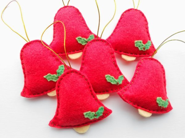 Adornos de fieltro para decorar tu casas estas navidades - Adornos navidenos tela ...