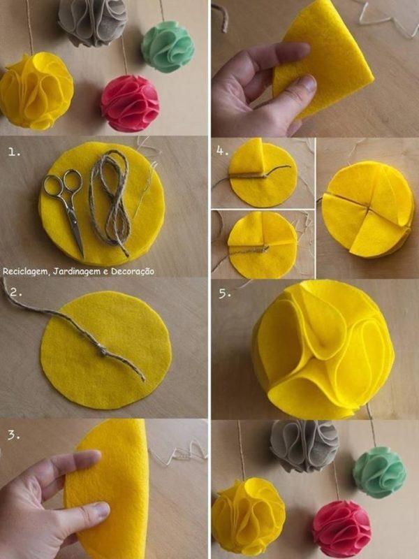 Adornos de fieltro para decorar tu casas estas navidades for Adornos navidenos origami paso a paso