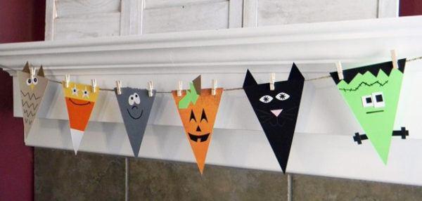 manualidades halloween guirnaldas