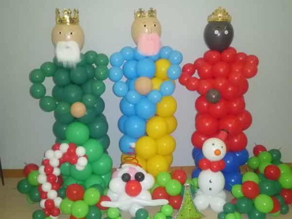 decoracion-de-navidad-con-globos-reyes-magos