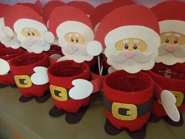 decoracion-navidad-con-botellas-plasticas-papa-noel