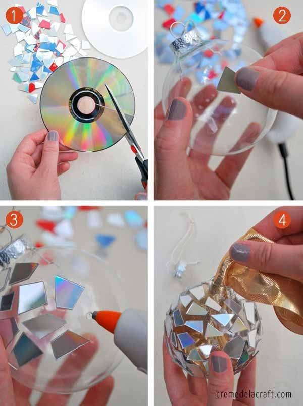 decoracion-navidad-reciclaje-cds