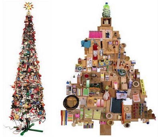 arboles-de-navidad-reciclados-2015-otros-materiales - Manualidades