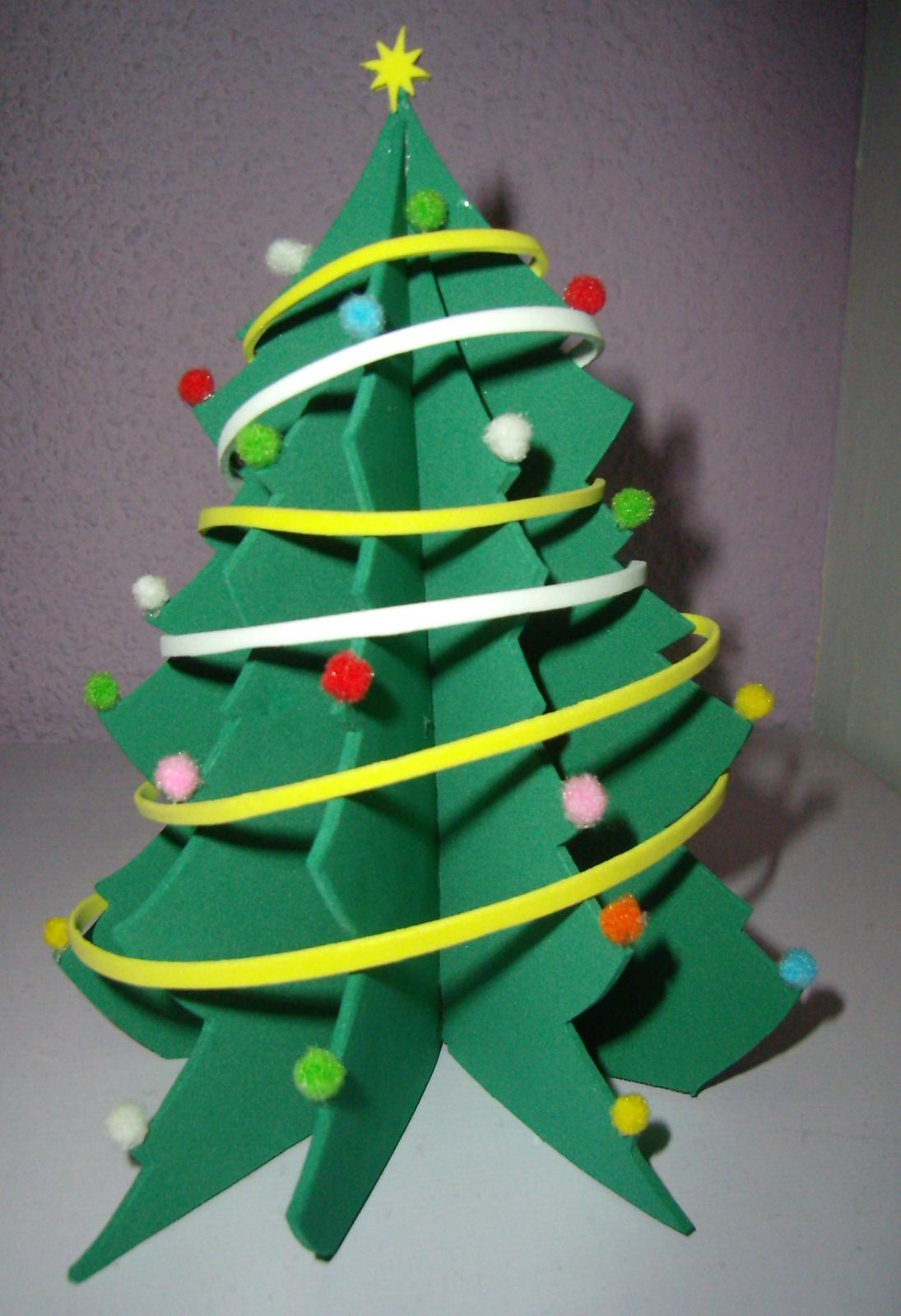 Como hacer un arbol de navidad en goma eva patrones con - Manualidades navidad arbol ...