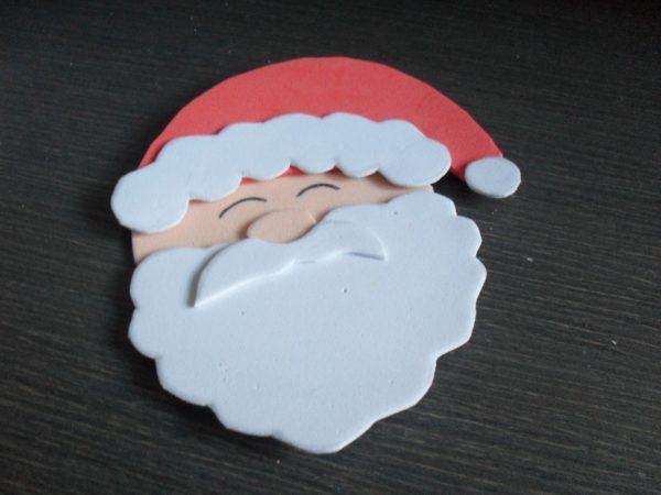 Adornos de navidad con goma eva 2016 manualidades for Hacer papa noel grande