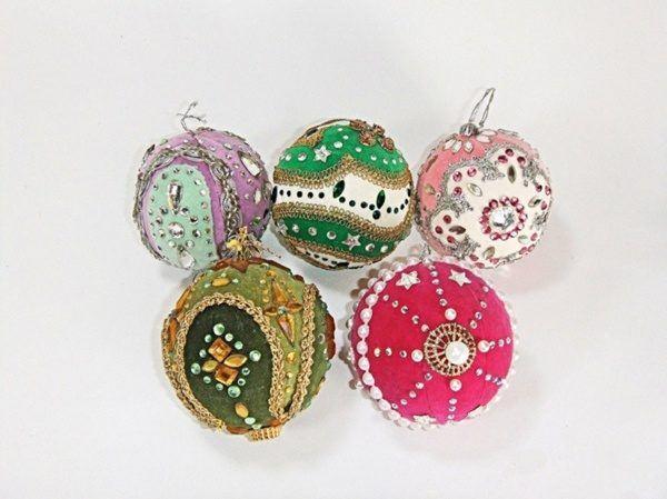 bolas de navidad de tela - Arbol De Navidad De Tela