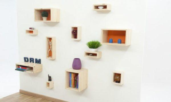 manualidades-recicladas-daciles-cajas-en-la-pared