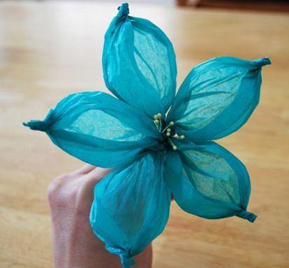 C mo hacer flores de papel de seda manualidades - Como se hacen flores de papel ...