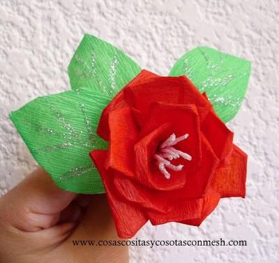 para la realizacin de esta rosa
