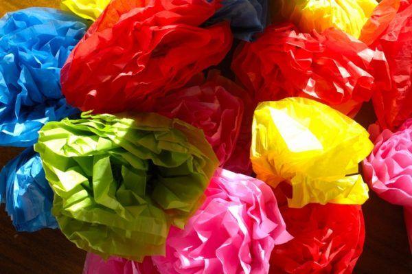 Flores papel crepe como hacer de manera rapida