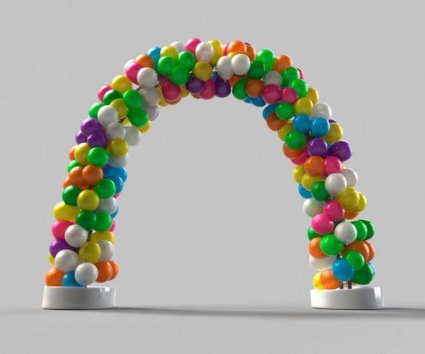 Cómo hacer un arco de globos sin estructura