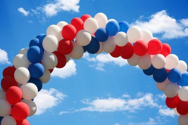 Como hacer un arco de globos paso a paso colores alternos
