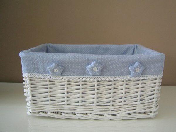 C mo decorar cestas de mimbre con materiales reciclados - Reciclar cestas de mimbre ...