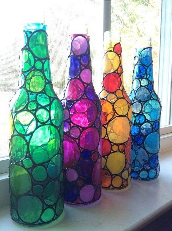 Reciclaje Ideas Para Decorar Botellas De Cristal O De Vidrio