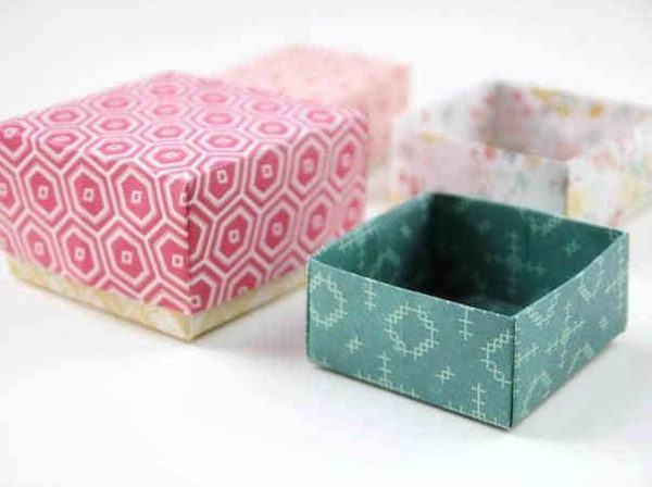 C mo hacer cajas de cart n a medida paso a paso manualidades - Como hacer cajitas de cartulina ...