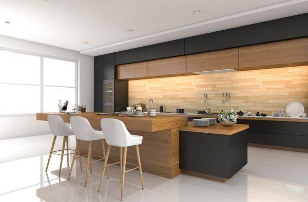 Revestimiento madera pared cocina