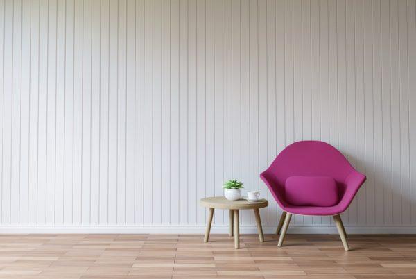Revestimiento pared madera  blanca
