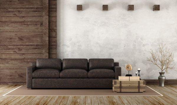 Revestimiento paredes interiores  salon